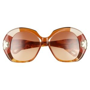 Chloe 54mm Oversized Round Sunglasses